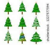 merry christmas. collection of...   Shutterstock .eps vector #1227577594