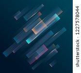 colored diagonal lines on  dark ... | Shutterstock .eps vector #1227578044