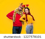 couple dressed up for the... | Shutterstock . vector #1227578101