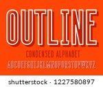 modern condensed sans serif... | Shutterstock .eps vector #1227580897