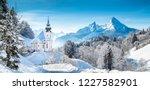 beautiful winter wonderland... | Shutterstock . vector #1227582901