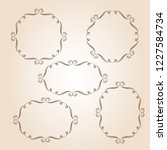 set vector retro frames .vector ... | Shutterstock .eps vector #1227584734
