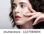 closeup beauty portrait of... | Shutterstock . vector #1227584854