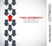 think differently concept. red... | Shutterstock .eps vector #1227586321
