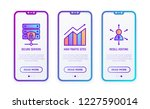 hosting thin line icons set ... | Shutterstock .eps vector #1227590014