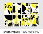 set of creative universal... | Shutterstock .eps vector #1227591247