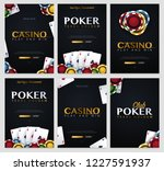 set of casino banners with... | Shutterstock .eps vector #1227591937
