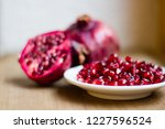 pomegranate fruit  latin ... | Shutterstock . vector #1227596524
