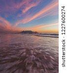 table mountain sunset   Shutterstock . vector #1227600274