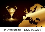golden low poly champions... | Shutterstock .eps vector #1227601297