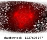 red christmas design with... | Shutterstock .eps vector #1227605197