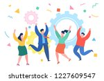 business people celebrating a... | Shutterstock .eps vector #1227609547