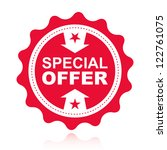 special offer label. | Shutterstock .eps vector #122761075