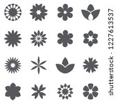 Flower Icon Set   Isolated On...