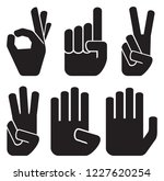 counting fingers icons set  ... | Shutterstock .eps vector #1227620254