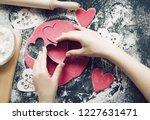 baking concept for st.... | Shutterstock . vector #1227631471