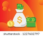 new pile of cash. profit ... | Shutterstock .eps vector #1227632797