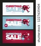 vector christmas banner design... | Shutterstock .eps vector #1227635404