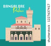 bangalore palace vector design | Shutterstock .eps vector #1227637417