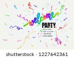 welcome party invitation with... | Shutterstock .eps vector #1227642361