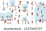 crowd of tiny people dressed in ... | Shutterstock .eps vector #1227642727