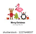 merry christmas. cute christmas ... | Shutterstock .eps vector #1227648037