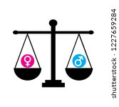 gender equality symbol | Shutterstock . vector #1227659284
