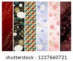 japanese chic pattern set   Shutterstock .eps vector #1227660721