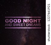 good night quotes with charming ... | Shutterstock . vector #1227661921