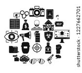hacking icons set. simple set... | Shutterstock .eps vector #1227662701