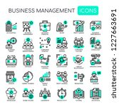 business management   thin line ... | Shutterstock .eps vector #1227663691