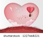 cute couples in love hugging ... | Shutterstock .eps vector #1227668221