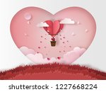 cute couples in love hugging ... | Shutterstock .eps vector #1227668224