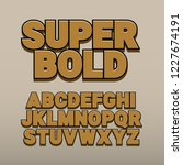 3d font alphabet. vintage style ... | Shutterstock .eps vector #1227674191
