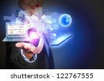modern wireless technology and... | Shutterstock . vector #122767555