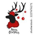 christmas deer.lettering...   Shutterstock .eps vector #1227676171