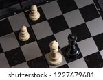 plastic chess closeup on a... | Shutterstock . vector #1227679681
