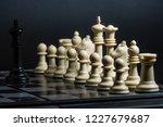 plastic chess closeup on a... | Shutterstock . vector #1227679687
