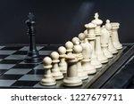 plastic chess closeup on a... | Shutterstock . vector #1227679711