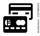 cashless payment credit card | Shutterstock .eps vector #1227680101