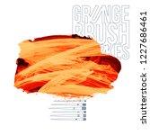 orange brush stroke and texture....   Shutterstock .eps vector #1227686461