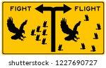 fighting or fleeing in response ... | Shutterstock . vector #1227690727