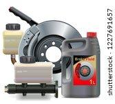 vector car brake system parts... | Shutterstock .eps vector #1227691657