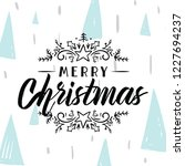merry christmas. typography.... | Shutterstock .eps vector #1227694237