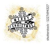 merry christmas. typography.... | Shutterstock .eps vector #1227694327