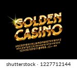 vector luxury emblem golden... | Shutterstock .eps vector #1227712144