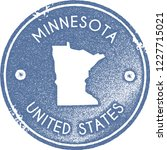 minnesota map vintage stamp.... | Shutterstock .eps vector #1227715021