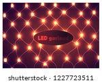 light garland background.... | Shutterstock .eps vector #1227723511