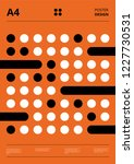 retro design circles poster... | Shutterstock .eps vector #1227730531