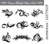 ornate flourishes vector pack | Shutterstock .eps vector #122773129